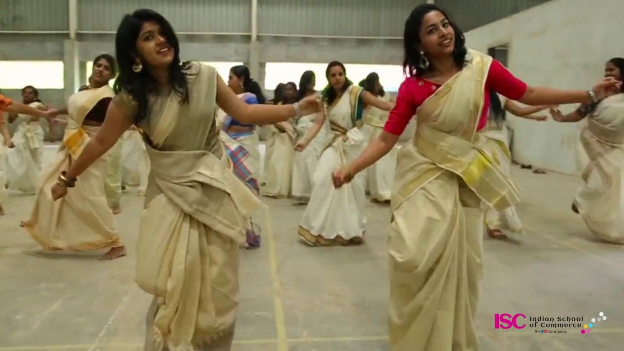 Jimikki Kammal Dance Perfomance By Indian School Of Commerce From A Malayalam Movie Velipa Dinte Pusthkam Dance Music Videos Dance Dance Music