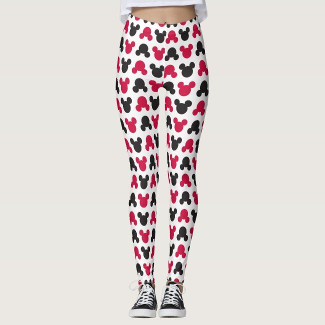 Mickey Mouse | Black and Red Pattern Leggings #mickey #disney #mickey #pattern #Leggings - Do you ha...