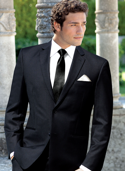 2015 Black Slim Fit Custom made mens tuxedo wedding suits for men ...