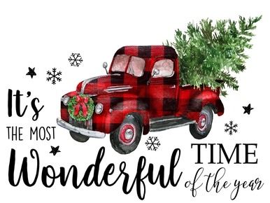 Christmas Plaid Red Truck Digital Png Christmas Truck Christmas Red Truck Christmas Clipart