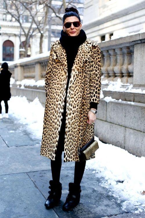627dabf5f670 Giovanna Battaglia leopard coat | { LEOPARD COAT } | Fashion ...