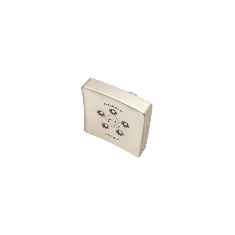 Speakman S-3021 The Edge Multi Function Shower Head Brushed Nickel Showers Shower Heads Multi Function