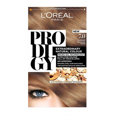L Oreal Paris Prodigy Extraordinary Natural Permanent Hair Colour Almond 7 0 Loreal Paris Loreal Permanent Hair Color
