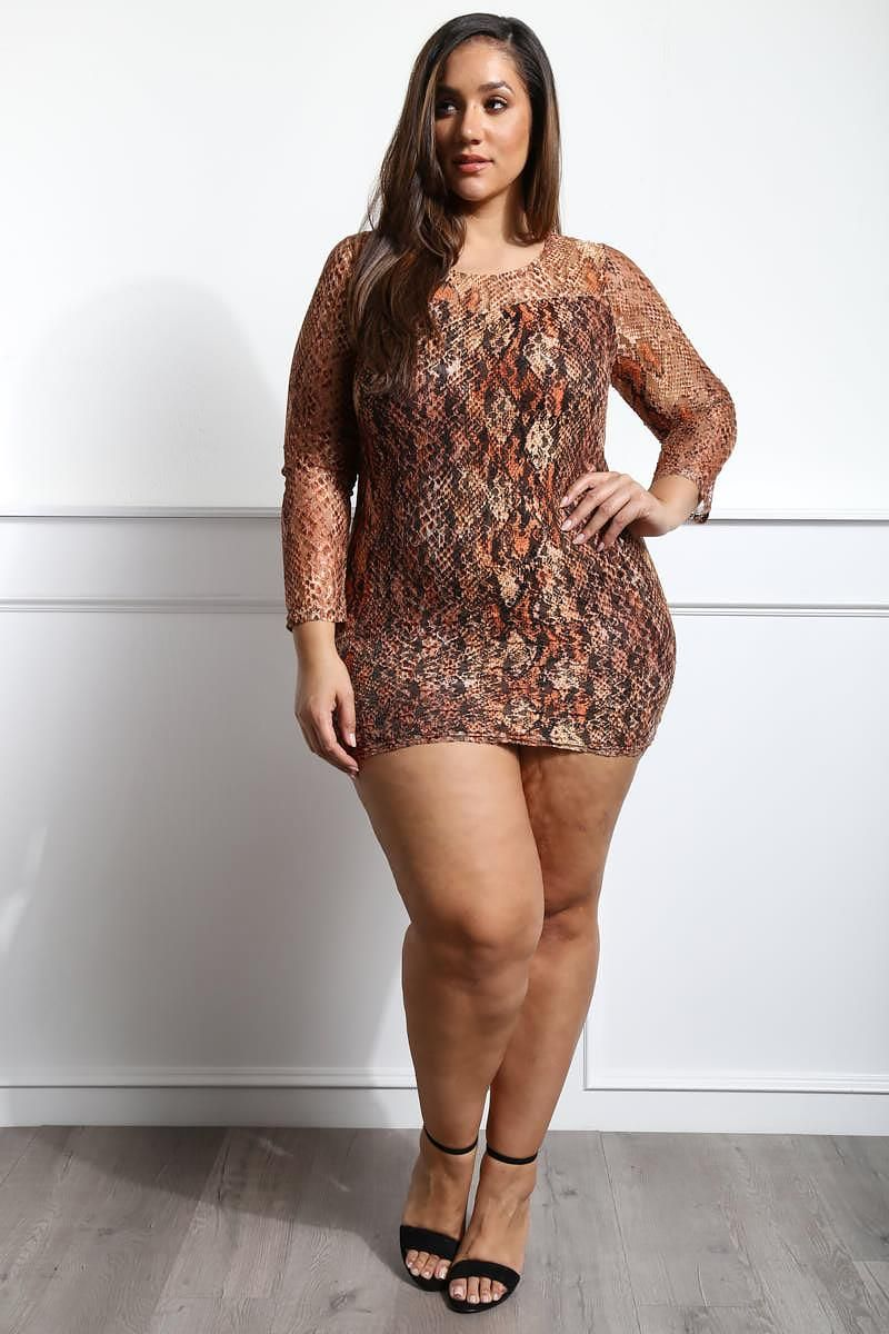4e2643947b9ca Detail View 2   SHOW ME HOW PLUS SIZE MINI DRESS