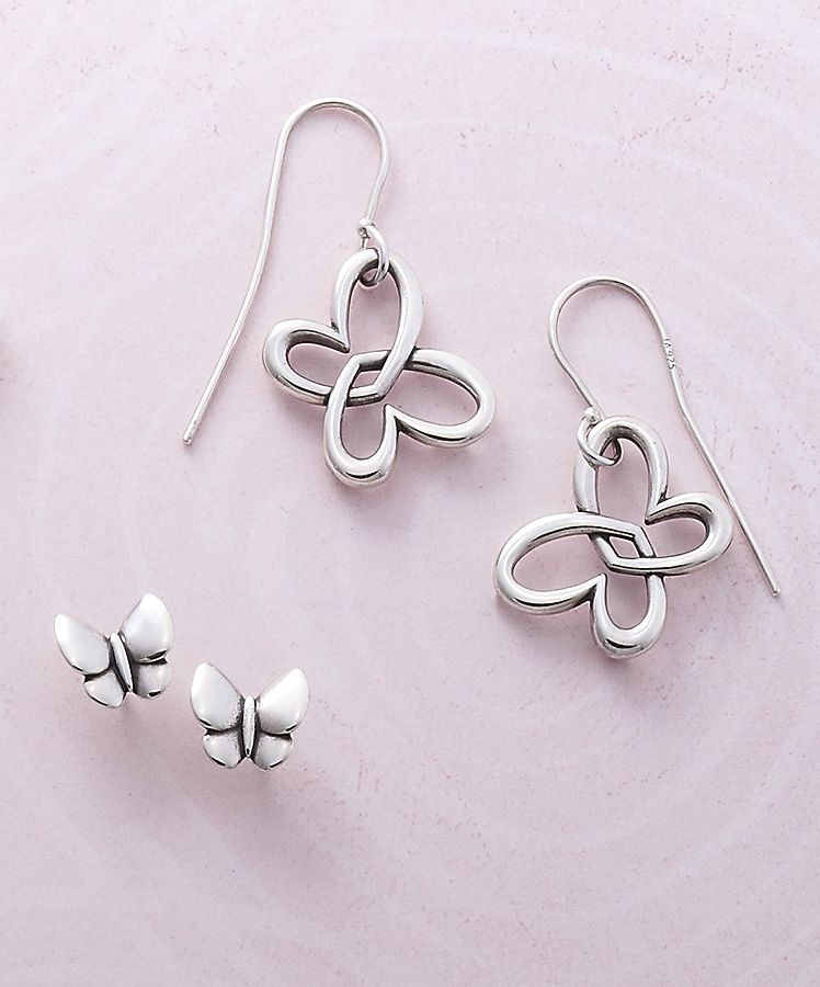 5dcb57078 Butterfly Earrings #jamesavery #earrings Avery Jewelry, James Avery,  Butterfly Earrings, Jewelry