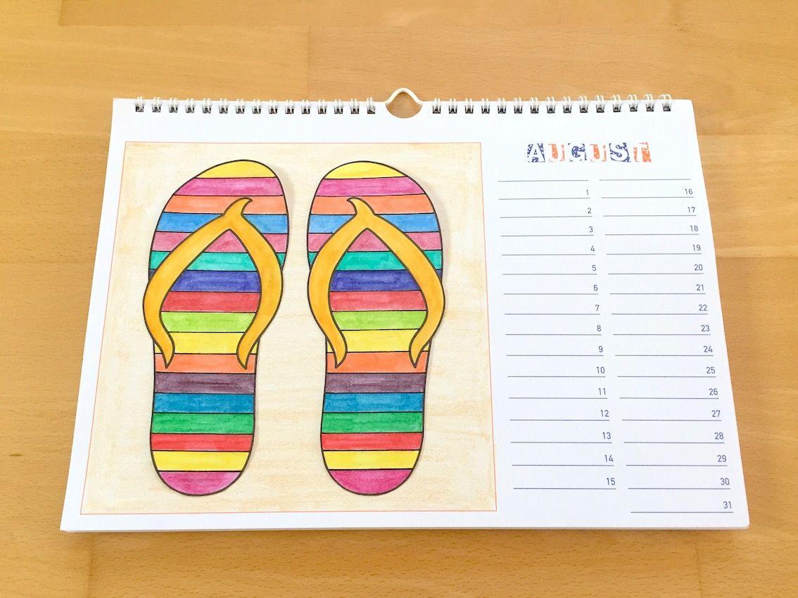 gestaltung eines dauerkalenders bastelkalenders in werken und gestalten in der grundschule. Black Bedroom Furniture Sets. Home Design Ideas