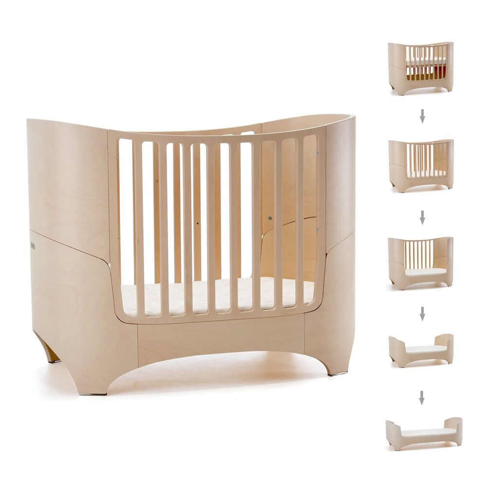 Leander Baby Bed U0026 Mattress In Whitewash   Babies Cots U0026 Furniture
