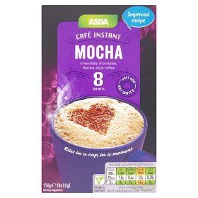 Asda Cafe Instant Mocha Coffee 8 Sachets Read More