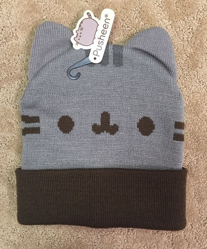 a0465fced40 Pusheen Facebook Character Watchman Beanie Knit Hat Gift New with Tags