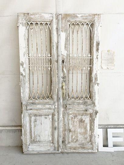 フレンチアイアングリルペアドア パディントン アンティーク家具 2020 ドア アンティーク ガラスドア