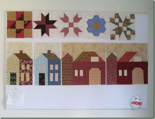 Houses for Around the Block Quilt and some Farmers Wife blocks
