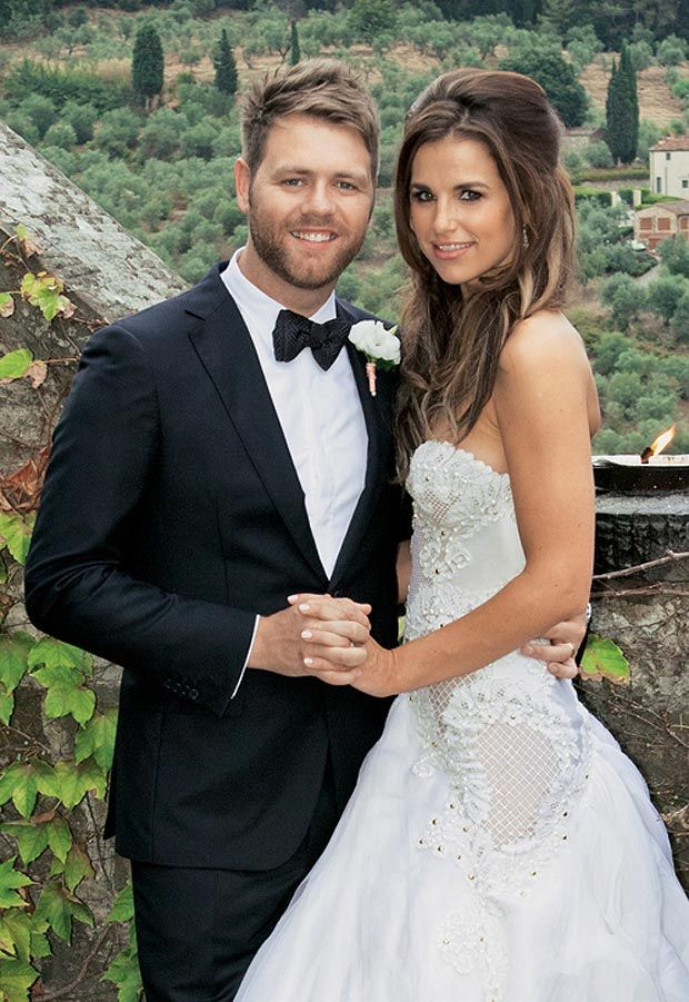 Brian Mcfadden And His New Wife Vogue Williams