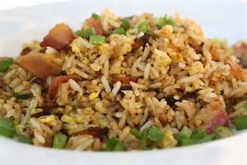 Fried Rice With Low Sodium Bacon Fried Rice Yummy Side Dish