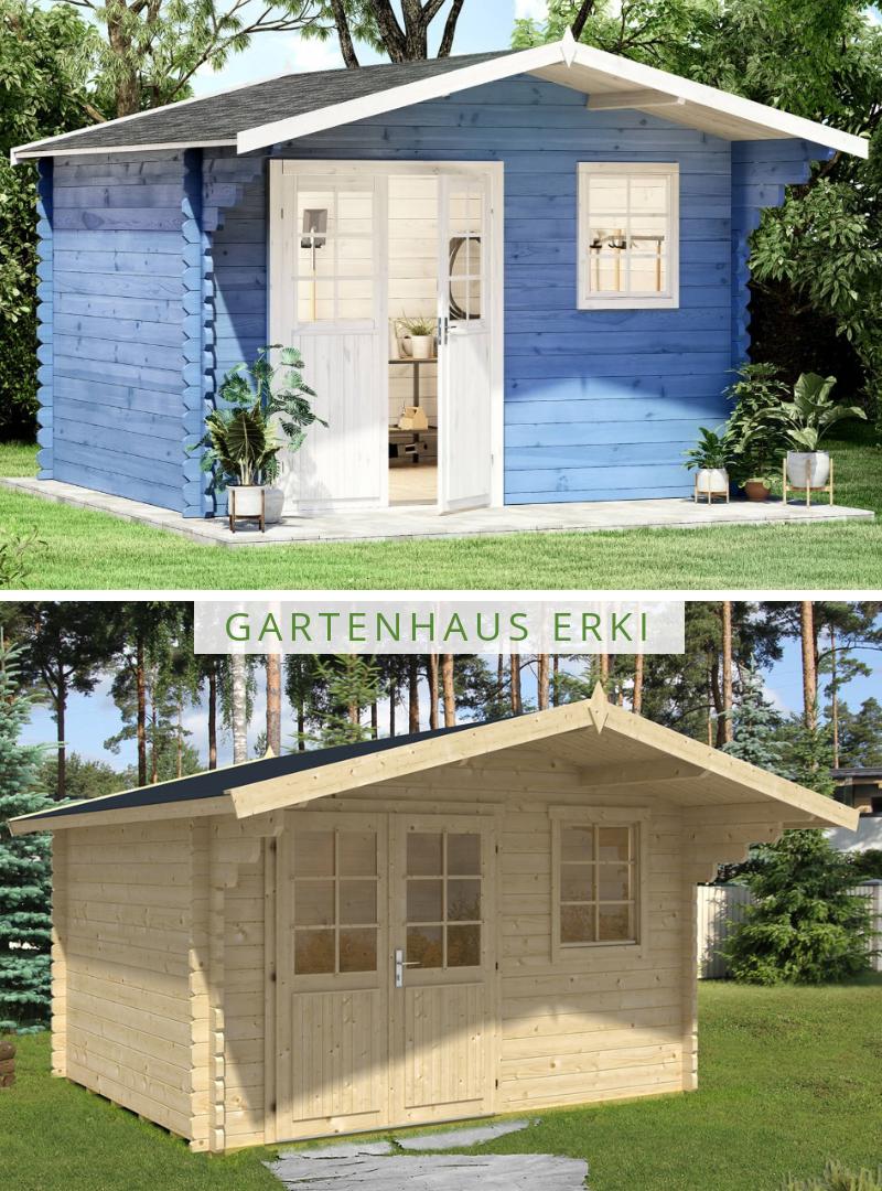 Gartenhaus Erki 44 A Iso Das Holz Gartenhaus Mit Satteldach Und