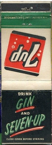 7Up with Gin #FrontStriker #20Strike #matchbook To order your business' own branded #matchbooks call 800.605.7331 or goto: www.GetMatches.com