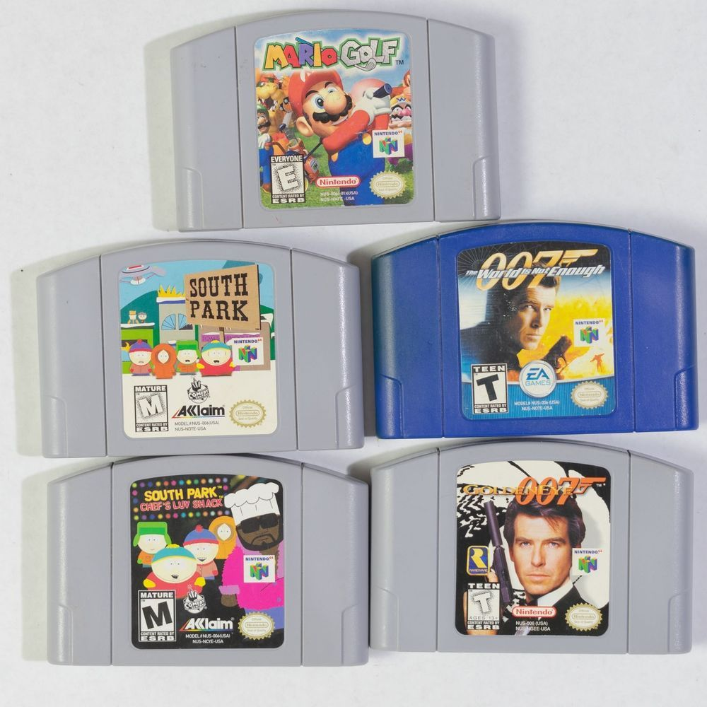 Nintendo 64 Lot 007 Golden Eye World Not Enough Bond South Park