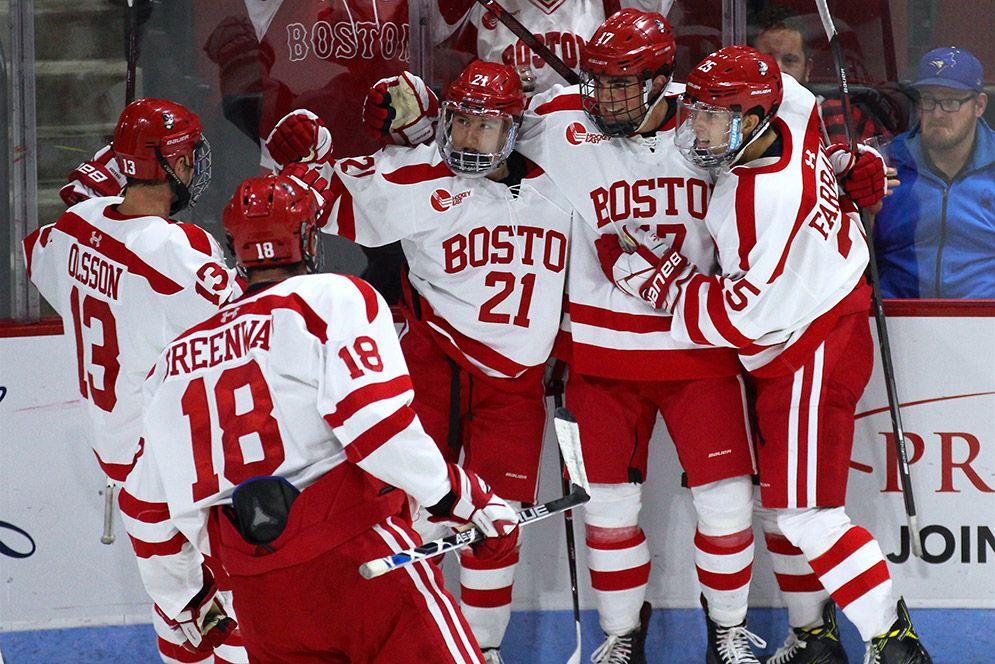 Men S Ice Hockey Hosts Reigning Ncaa Champions Tonight Bu Today Boston University Ncaa Champion Boston University Hockey