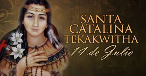 La Iglesia Católica en Estados Unidos celebra hoy, 14 de julio, la fiesta de la primera santa piel roja, Catalina (Kateri) Tekakwitha, canonizada por el hoy Sumo Pontífice Emérito Benedicto XVI, en octubre de 2012.