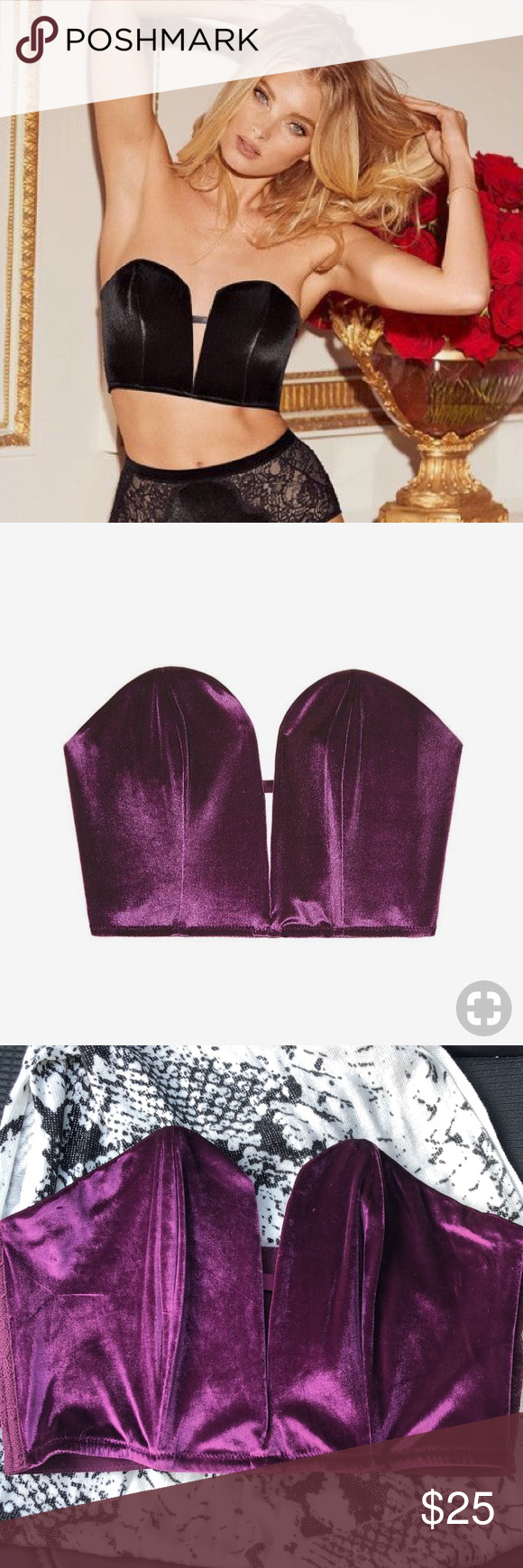 2485a87642e Victoria s Secret Plum velvet mini bustier. Size M BRAND NEW!! Dream Angels  mini corset bra. Victoria s Secret Intimates   Sleepwear Bras