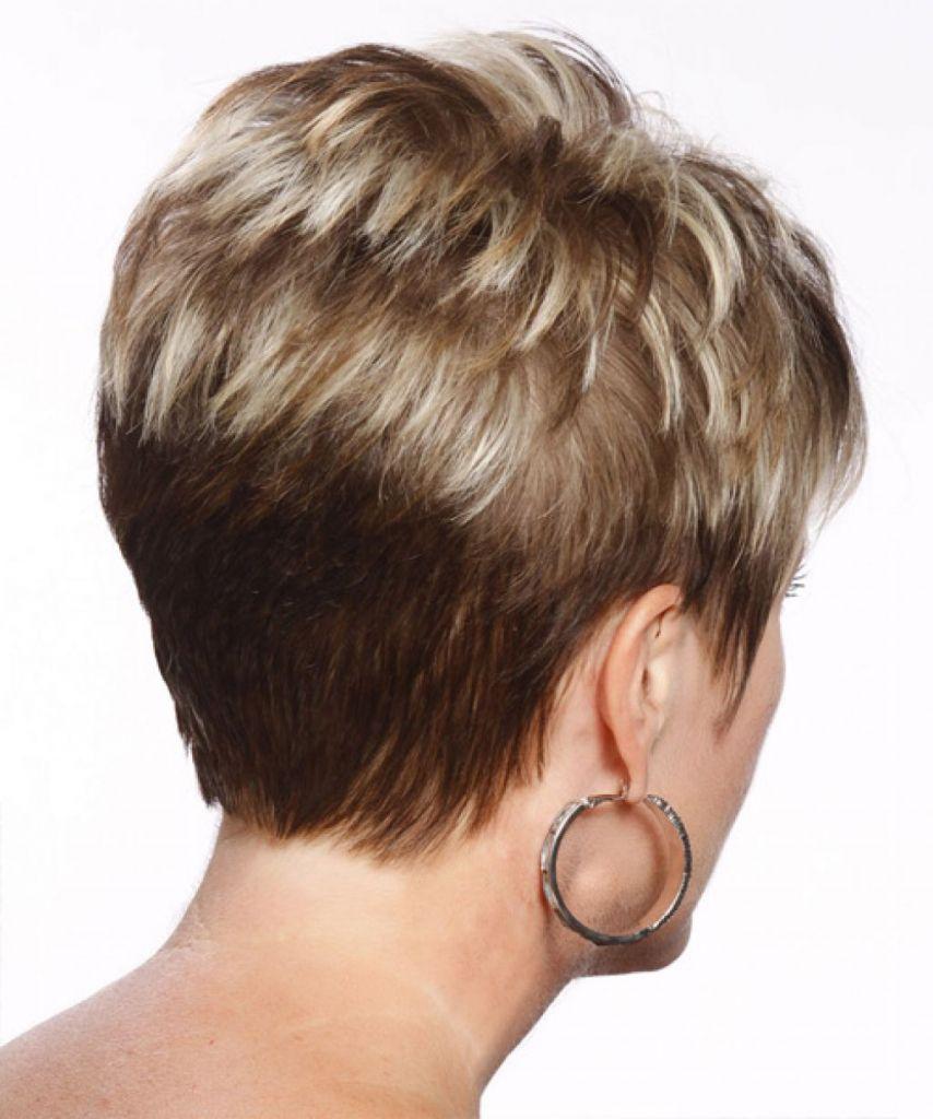 Ansicht Von Hinten Der Kurze Haarschnitte Messy Bob Frisuren Sind