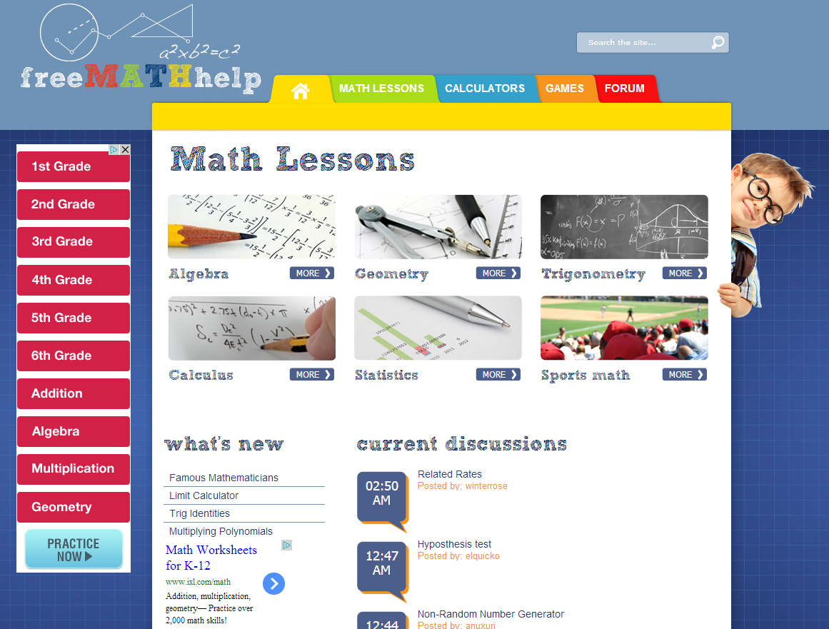 Learning Never Stops: 52 great math websites for students of any age ...