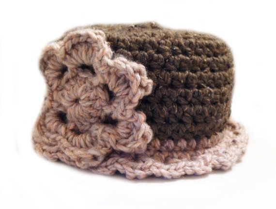 Downton Tot Pink and Cocoa Duster Girls Hat
