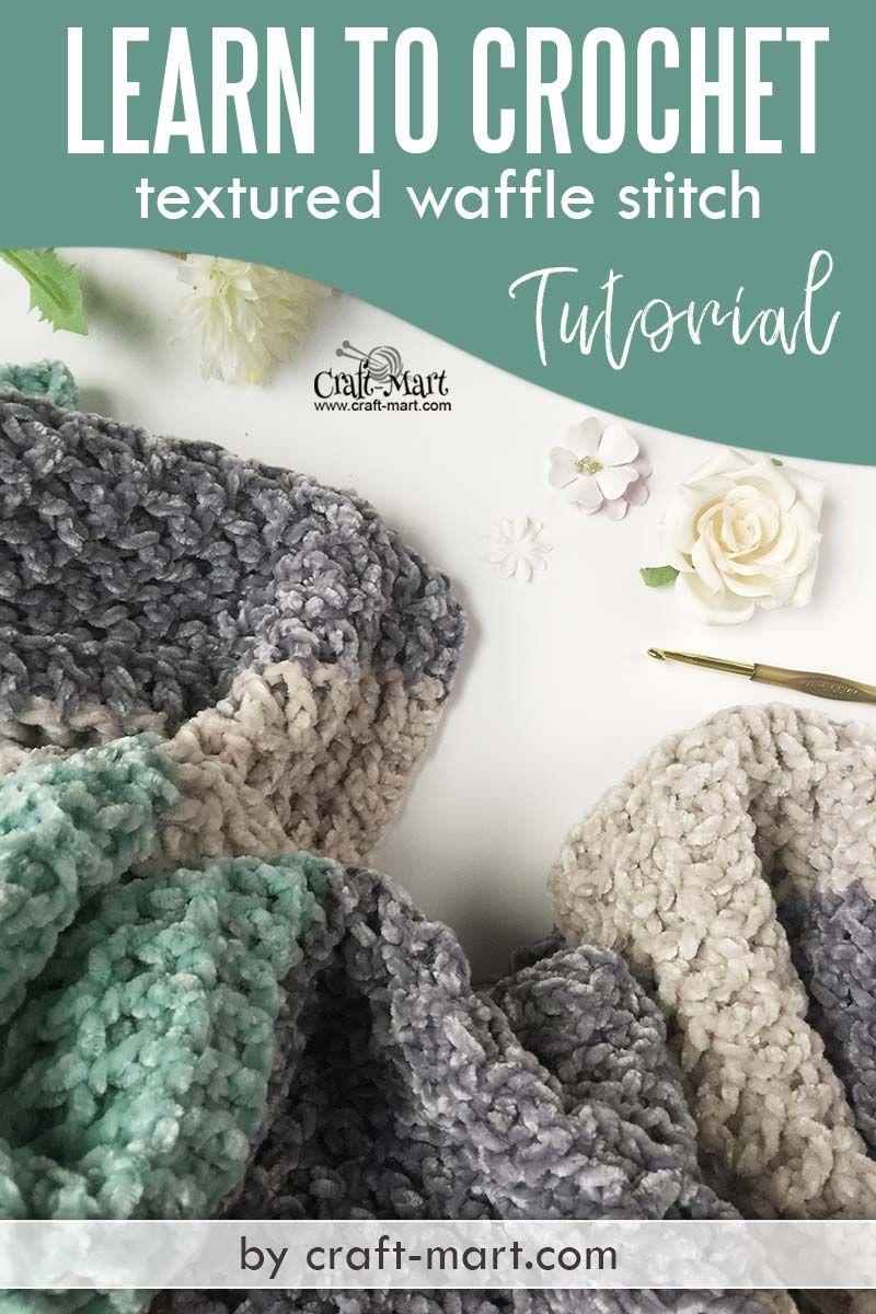 Bernat Velvet Yarn Pattern Textured Baby Blanket Craft Mart Crochet Blanket Pattern Easy Blanket Craft Waffle Stitch