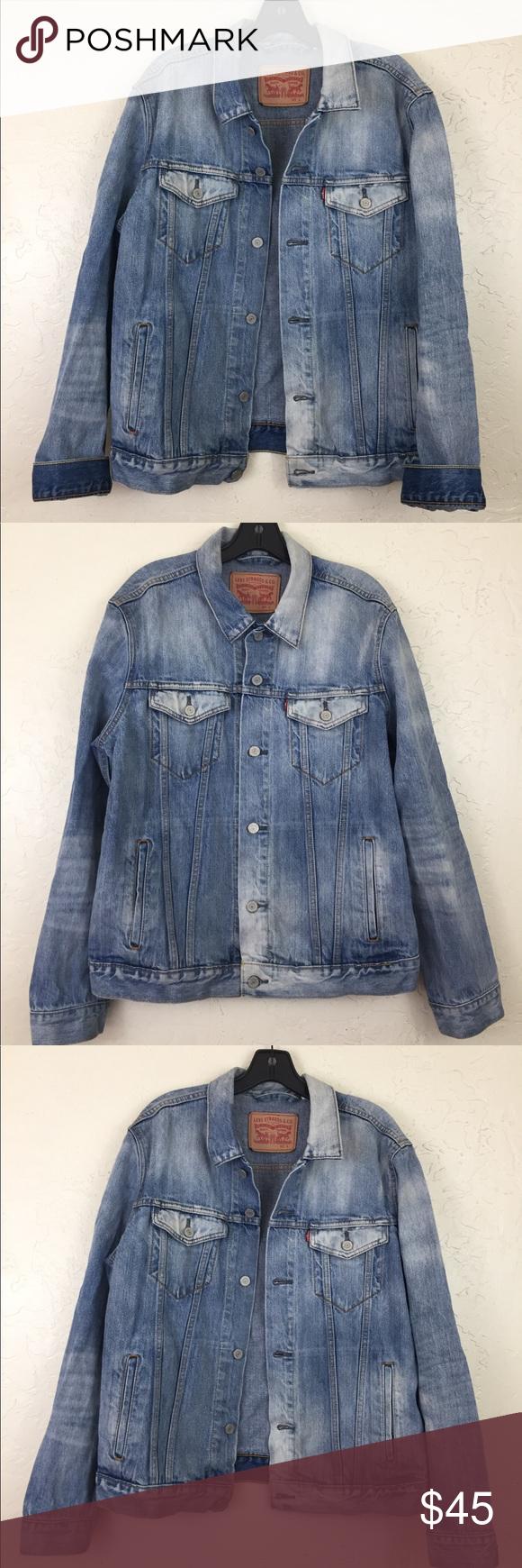 Vintage Levis Jean Jacket Trucker Denim Jacket Light Wash Denim Jacket Levis Jean Jacket Denim Jacket
