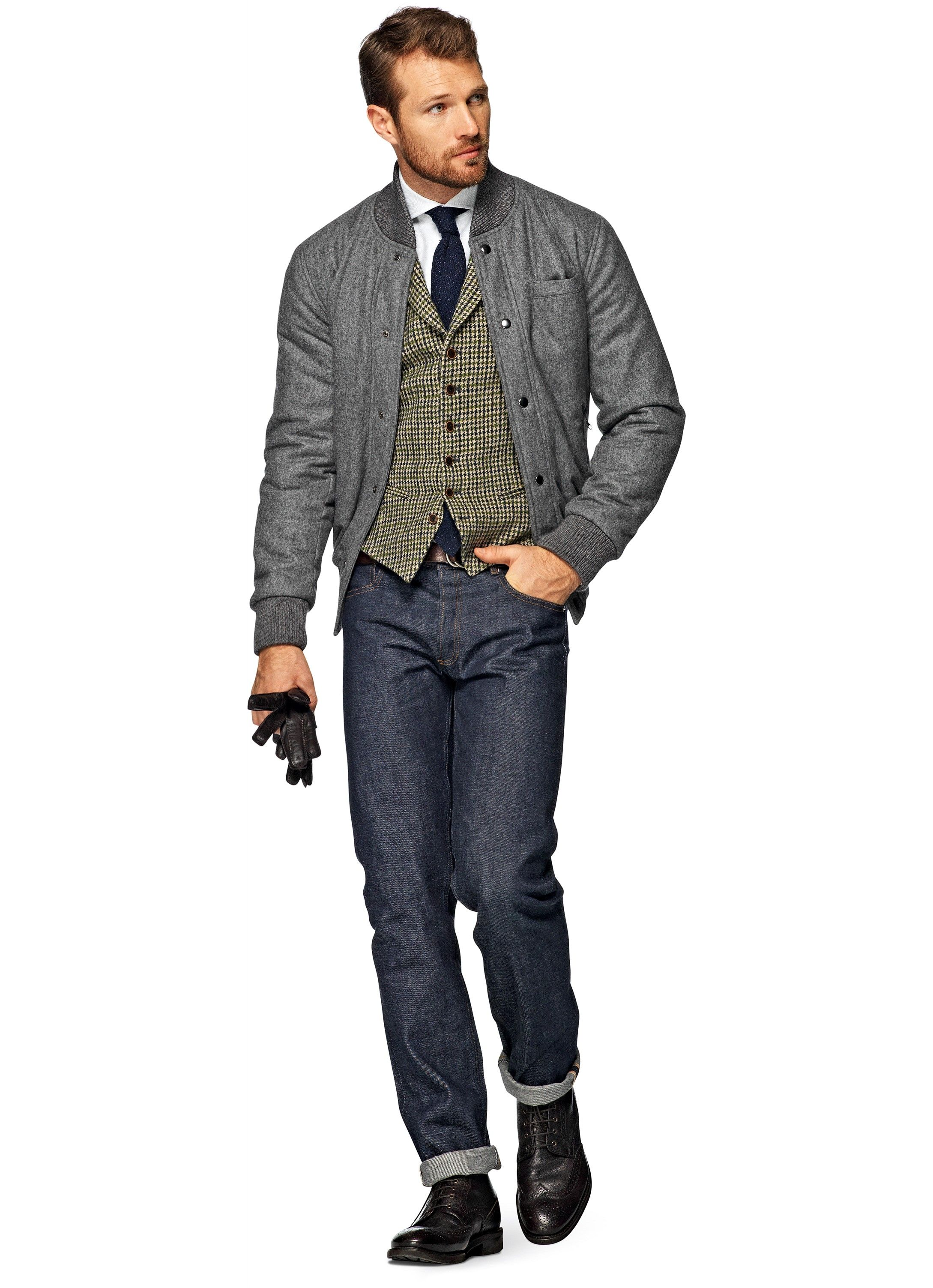 Grey Bomber Jacket J300i | Suitsupply Online Store | Clothes ...