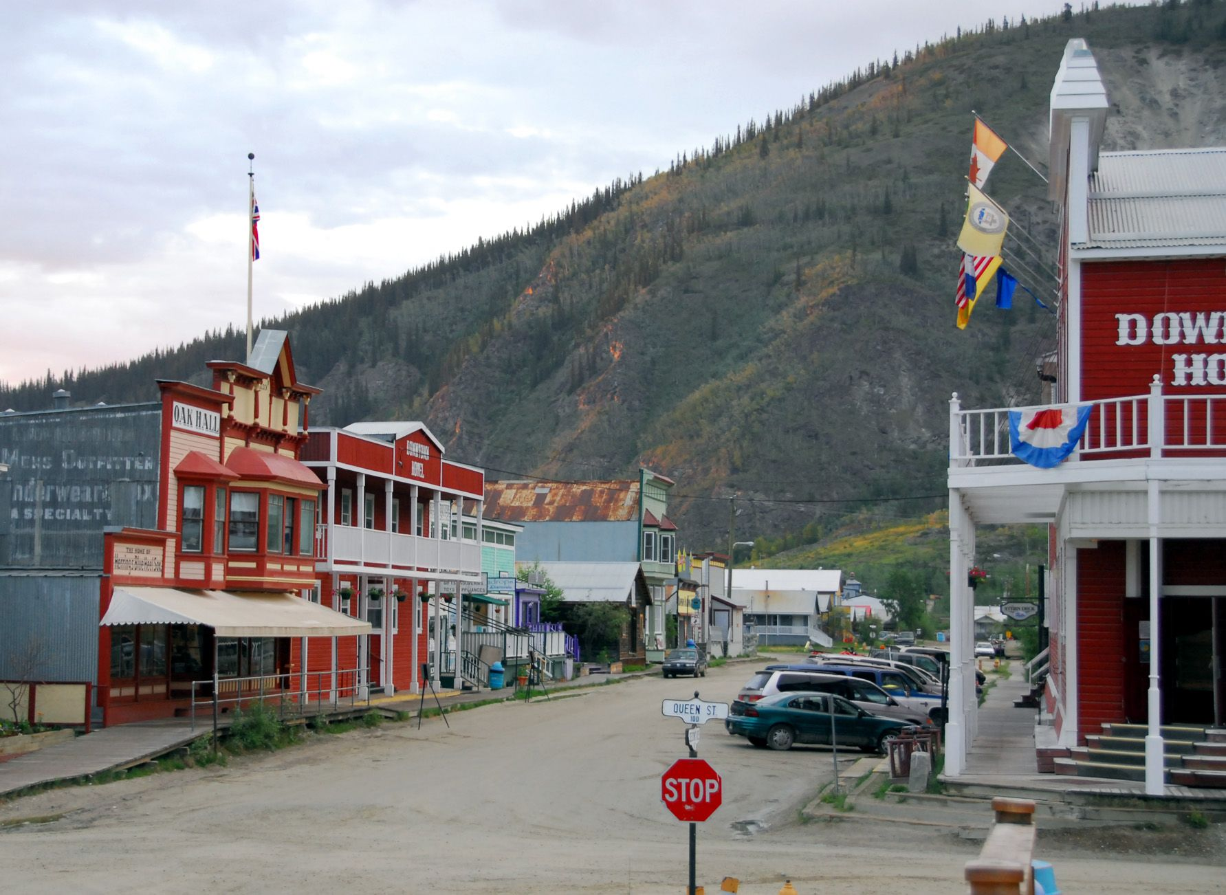 Downtown Dawson City In The Yukon Canada I Have Family Roots There And Dream Of Visiting One Day Travel Yukon Cana Dawson City Yukon Yukon Canada Yukon