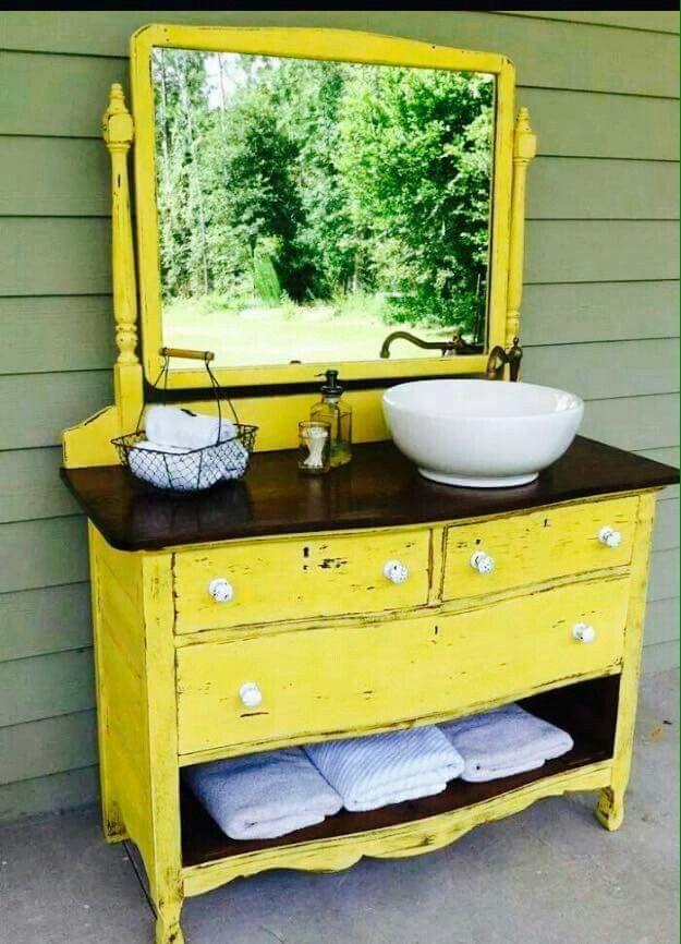 Love This Diy Dresser Decor Shabby Chic Bathroom