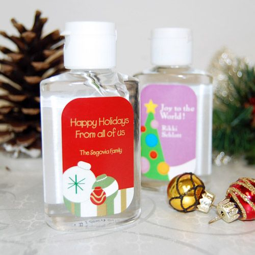 Personalized Holiday Hand Sanitizer Hand Sanitizer Holiday