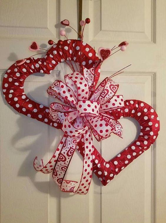 90 Easy Dollar Store DIY Valentine's Day Wreath Ideas that will Make your Front Door speak romantic