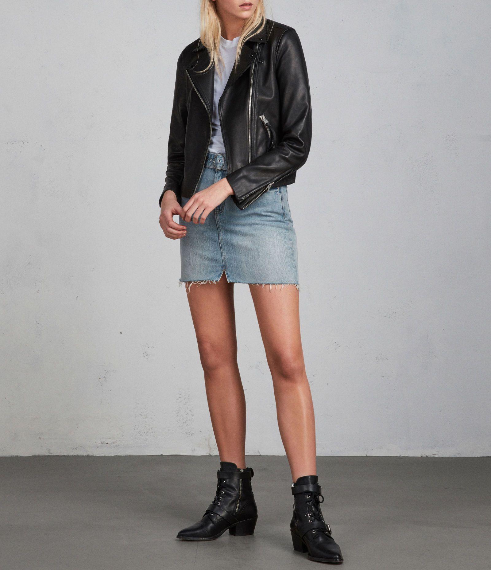 38d88cab687e73 AllSaints Dalby Leather Biker Jacket | 2018 4 | Jackets, Leather, Biker