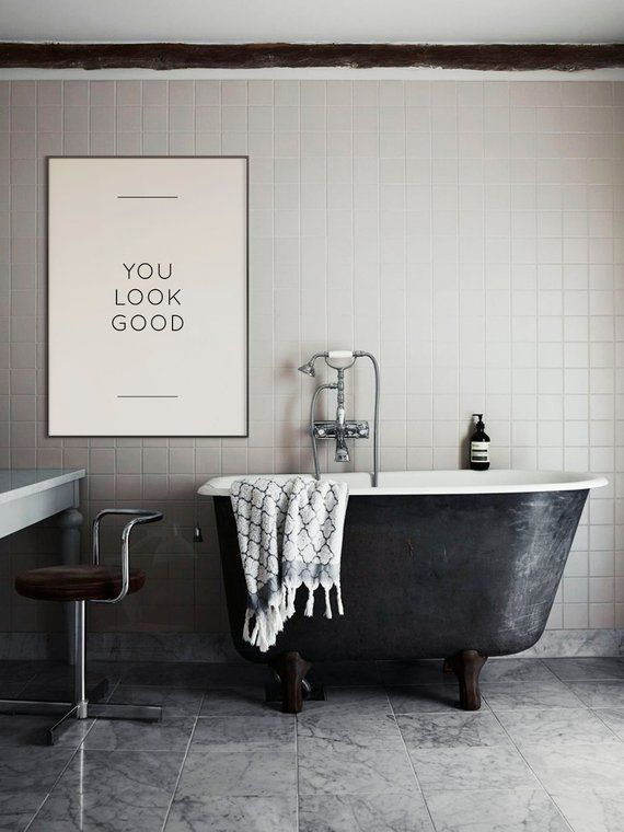 Photo of You look good Poster | Quote for girls | Girls room decoration | Home decor | Quote prints | Bedroom decor | Bathroom decor | Typography wall art