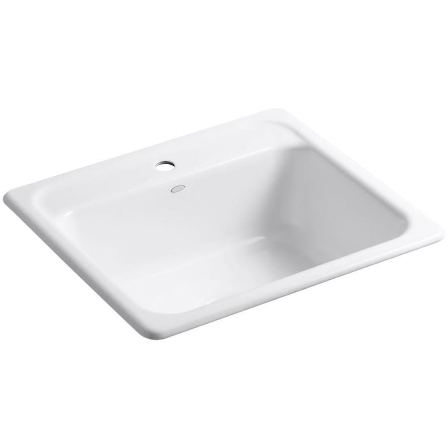 Kohler Mayfield 22 0000 In X 25 0000 In White Single Basin Cast