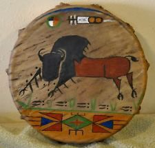 Tatanka / Buffalo/Native American Drum Painted by Lakota Artist Sonja Holy Eagle