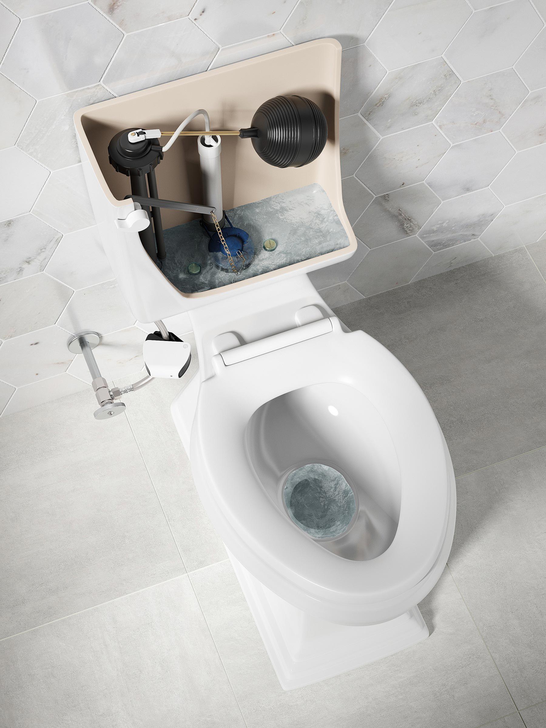 Un Toilette Ou Une Toilette image du tableau plomberie de intervention rapide