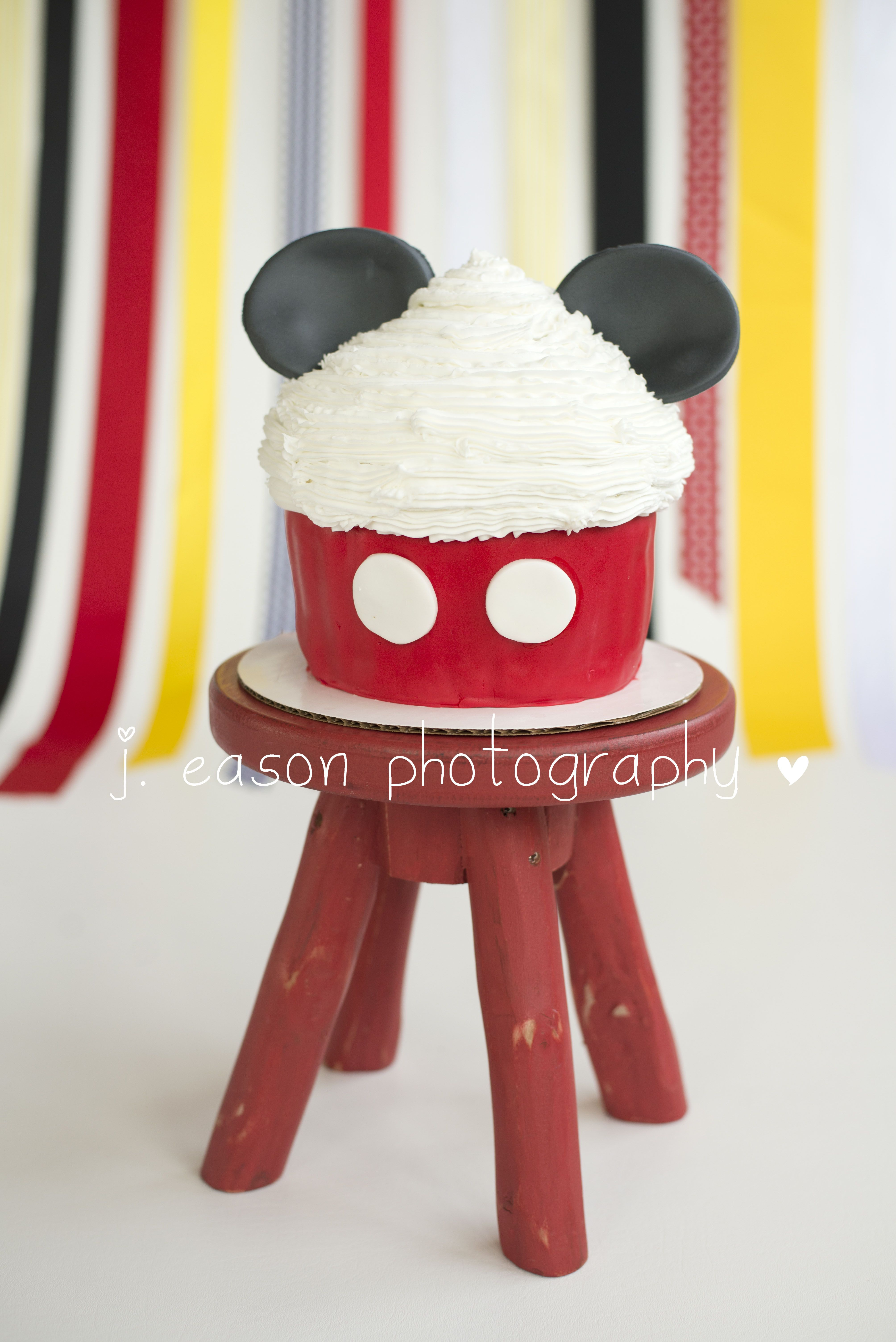 Mickey mouse inspired cake smash cake cake its all about