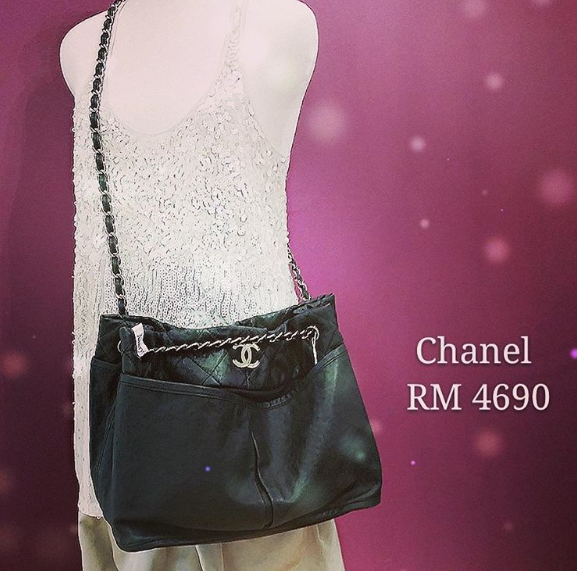 Chanel 2 Way Bag Rm 4690 Sales Black Calf Skin W Silver Hardware Condition Good With Dust Bag Redeem It Free Wi Chanel Collection Chanel Dubai Fashion