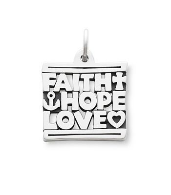 A reminder of the values that endure the cross represents faith faith hope love charm a reminder of the values that endure the cross represents faith the anchor stands for hope and the heart is love aloadofball Choice Image