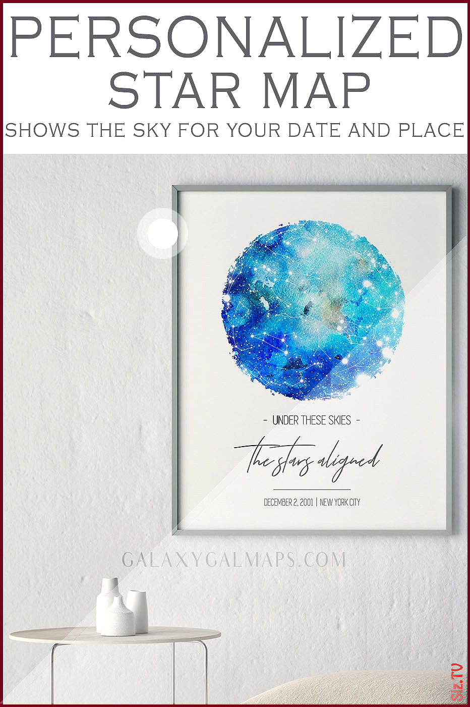LIMITED TIME only Your Star Map by Date and Place New Home Gift Present Card Mugs The Eagle Virgo Zodiac Nursery Night SkyApartment Wall A LIMITED TIME only Your Star Map...