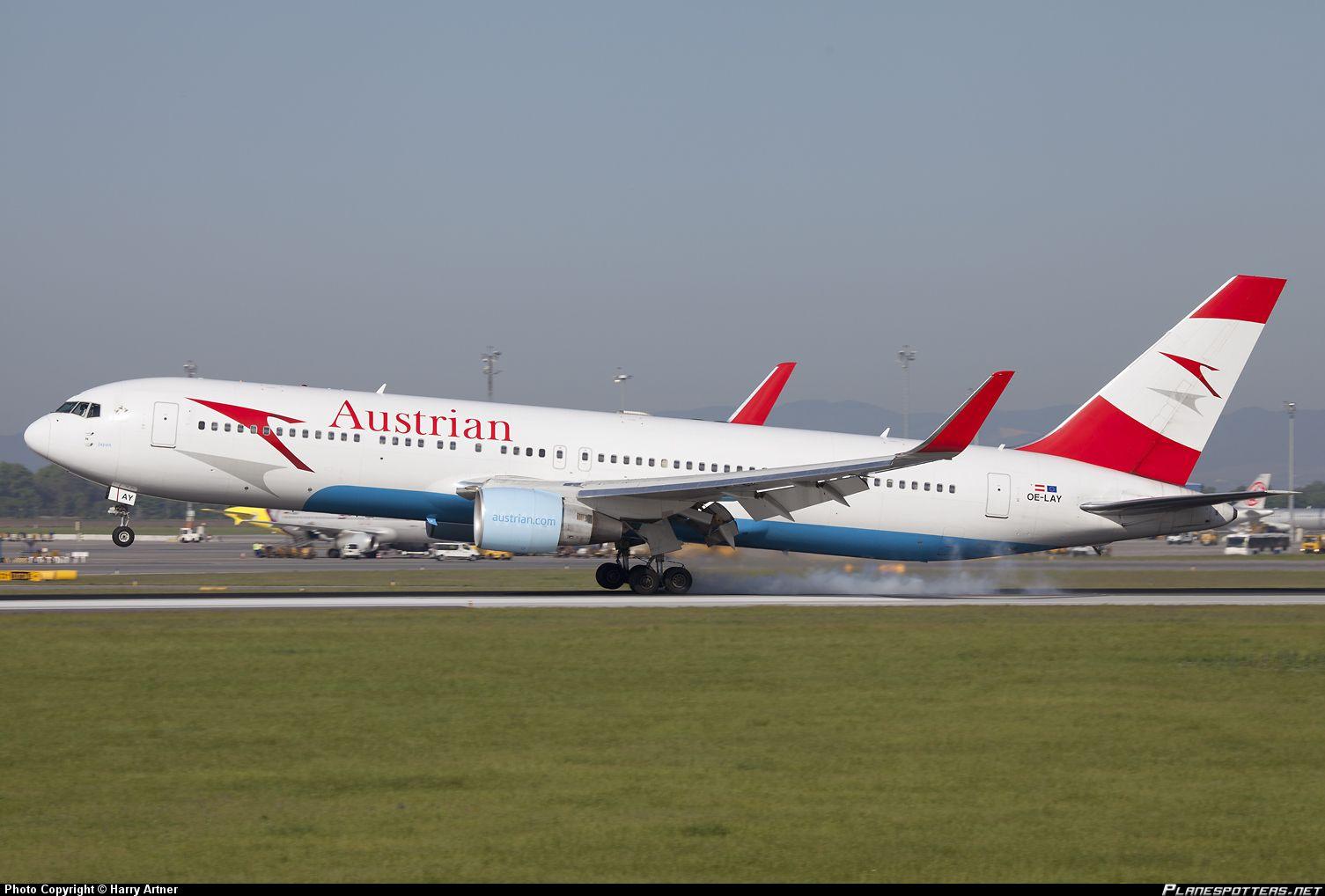 Austrian Airlines Boeing B767 300 Boeing 767 Boeing Airlines