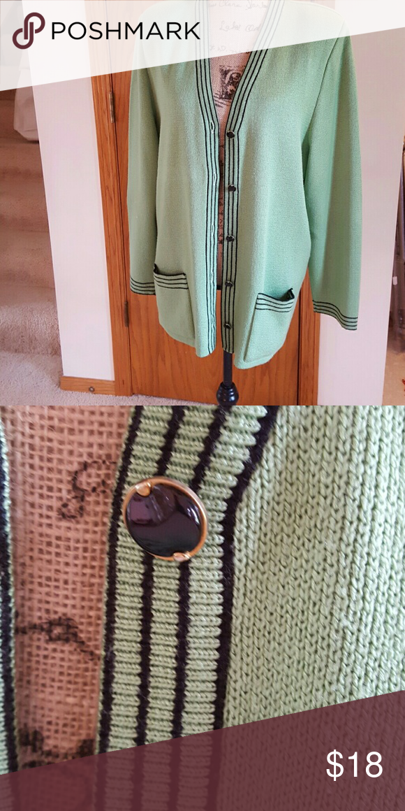 Lime green knitted jacket
