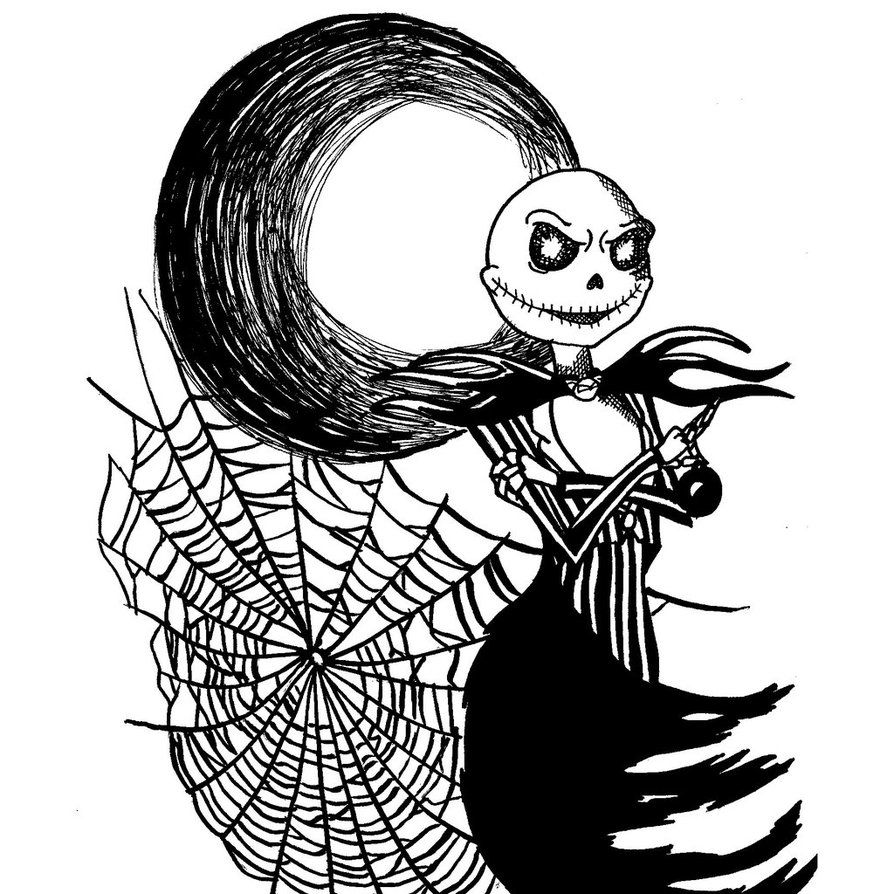 Free nightmare before christmas coloring pages to print - Free Printable Nightmare Before Christmas Coloring Pages Best Coloring Pages For Kids