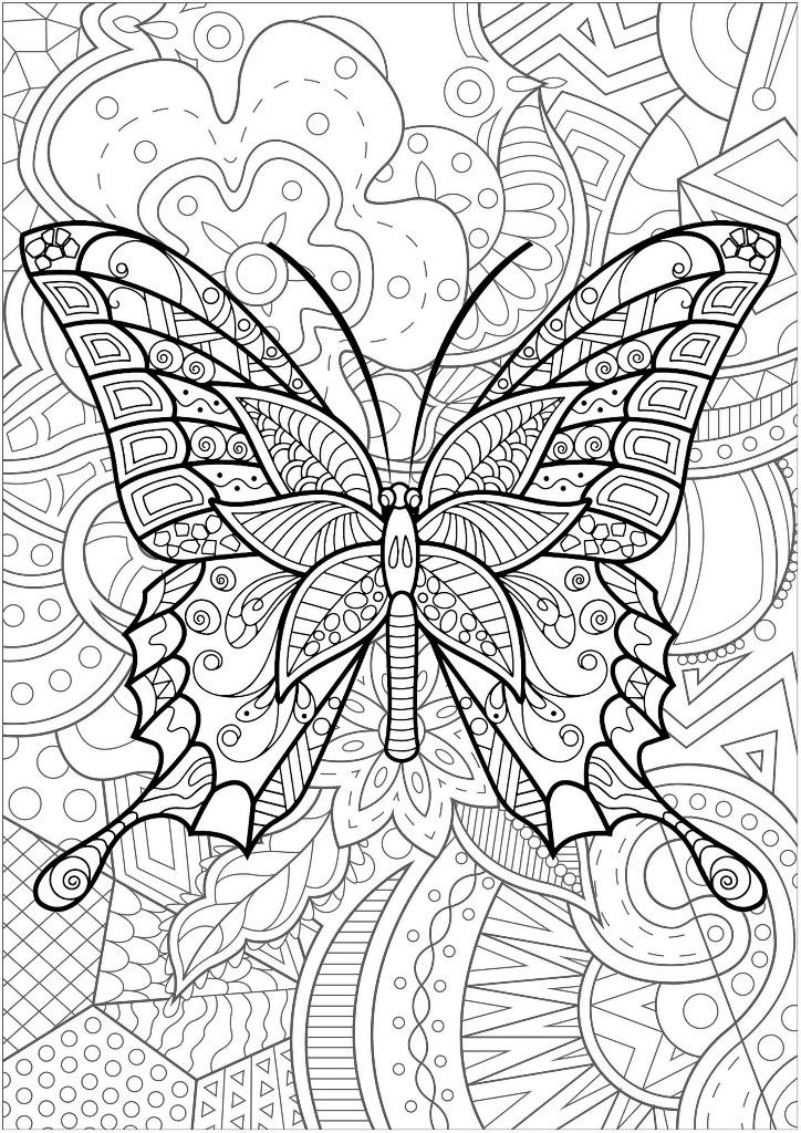 Pin By Majosemarina On Colorful Tangles In 2020 Mandala Coloring Pages Insect Coloring Pages Butterfly Coloring Page