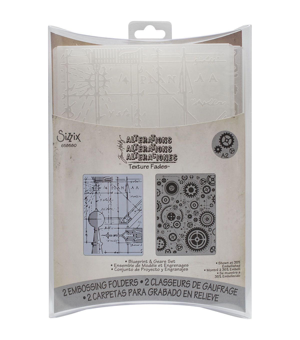 Sizzix174 texture fades8482 a2 embossing folders blueprint sizzix texture fades a2 embossing folders blueprint gears malvernweather Choice Image