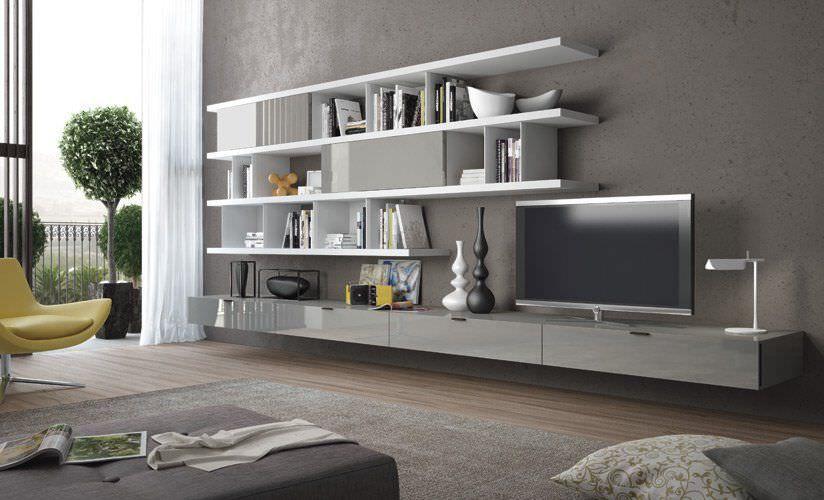 Mueble Tv Moderno De Madera Casa Blanca Zanette