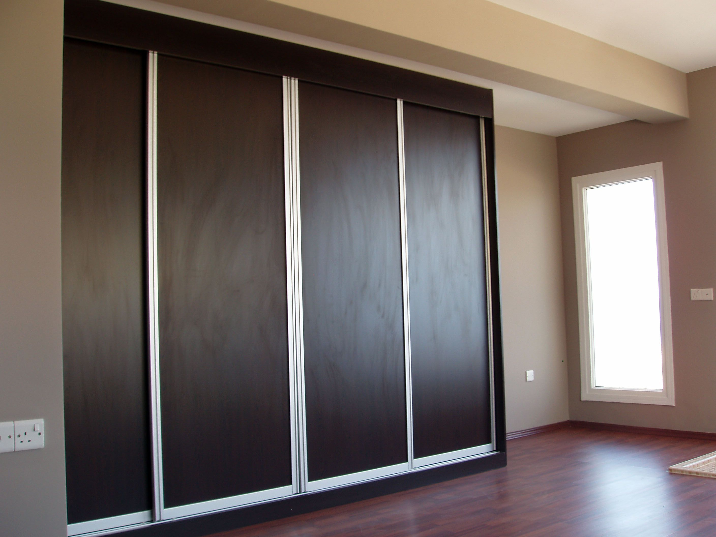 master bedroom wardrobes are designed to be different from childern bedroom and the extraguest