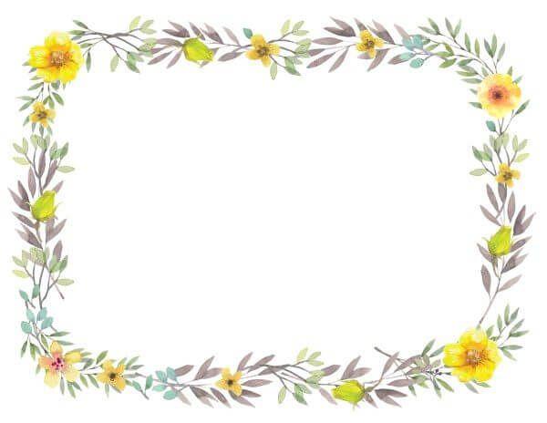 Flower Border Gh Pinterest Printable Border Borders Free And